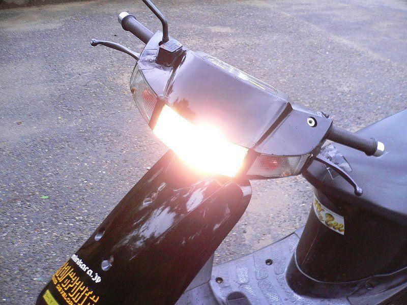 夜道も安心して走ろう!原付バイクのヘッドライトを明るくカスタム!のサムネイル画像